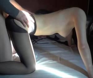 porno met meisje met nylon kousen