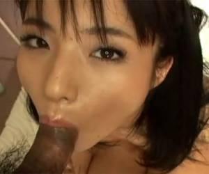 Hairy asian finger fuck